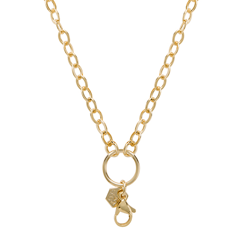 CN6049 Gold Oval Link 18 36 Convertible Toggle Chain